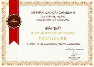 """TOP """"ĐẠI LÝ XUẤT SẮC"""" THÁNG 5/2018"""